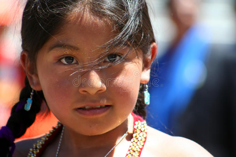 Bolivian girl royalty free stock image