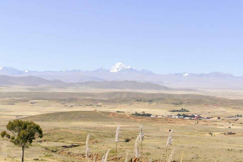 Bolivian landscape around La Paz stock photo