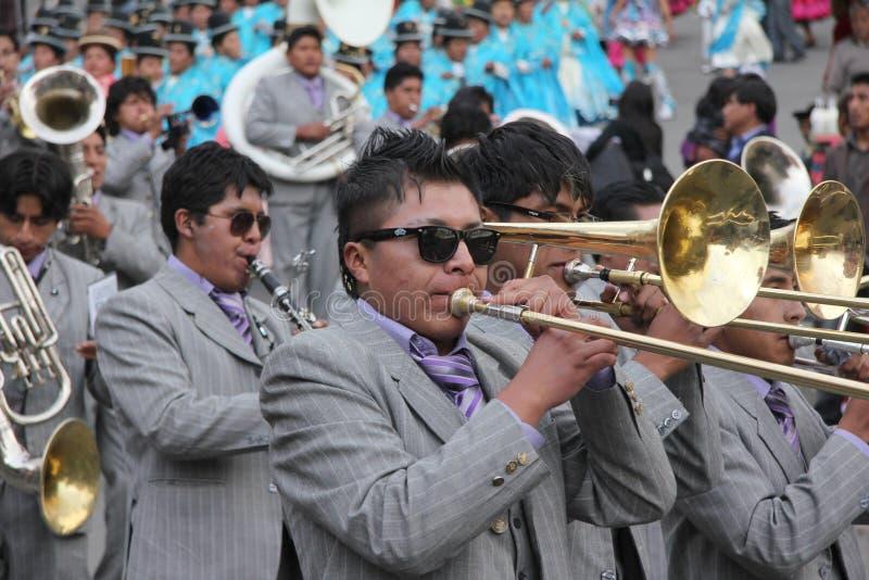 Bolivianische Fiesta stockfotos