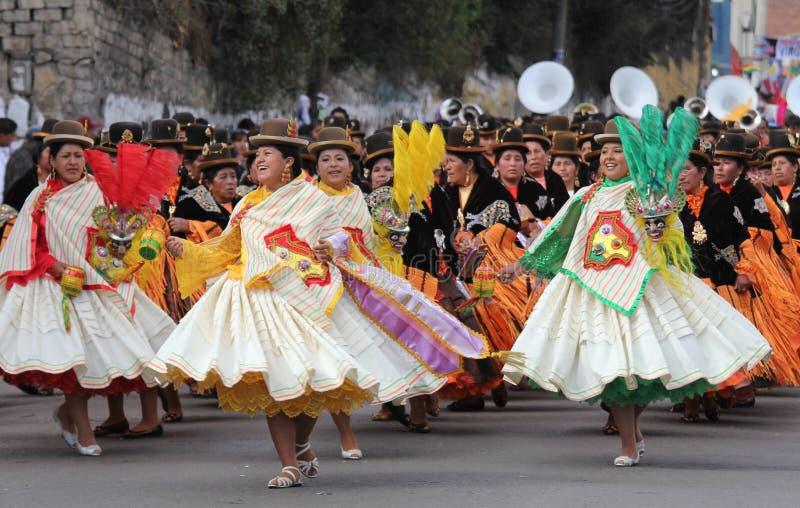 Bolivianische Fiesta stockbilder