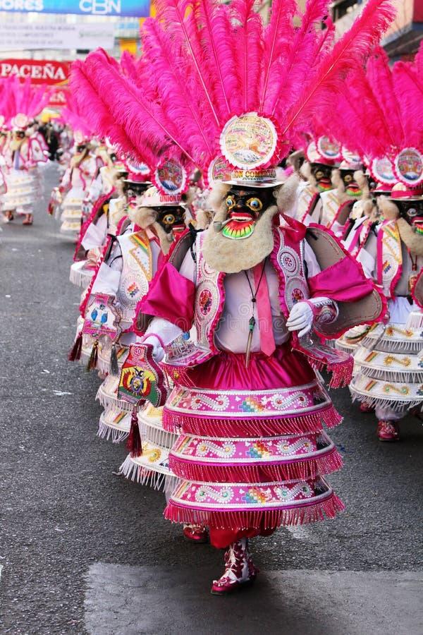 Bolivianische Fiesta lizenzfreie stockfotos