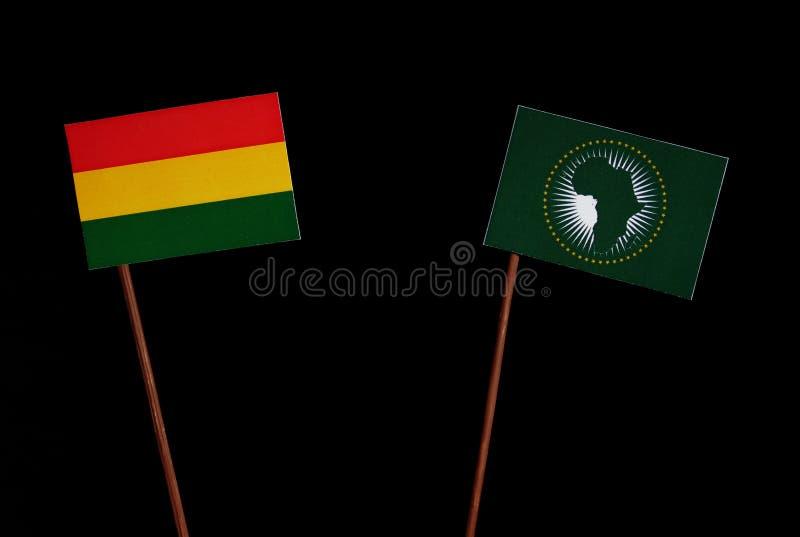 Download Bolivianische Flagge Mit Der Flagge Der Afrikanischen Union Lokalisiert Auf Schwarzem Stockfoto - Bild von land, militärisch: 96934924