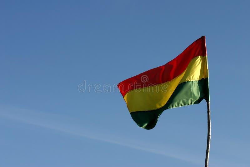 Bolivianische Markierungsfahne stockfotografie