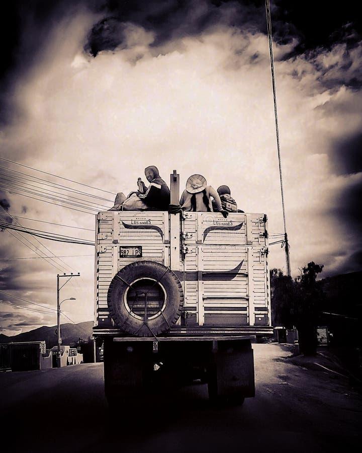 Bolivianischer Transport stockbilder
