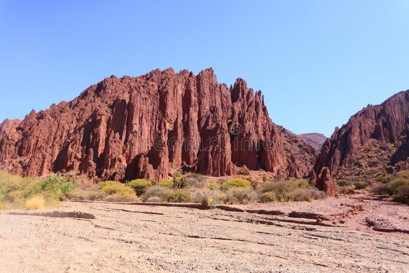 Boliviansk kanjon nära Tupiza, Bolivia arkivbild