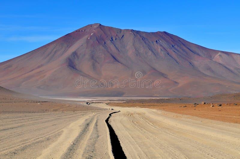 Boliwia Atacama pustynia i Praktycznie Bezdeszczowy plateau w południe, obraz stock