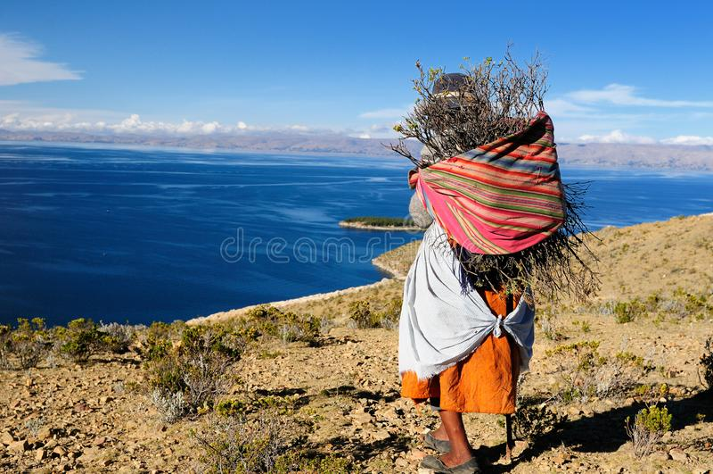 Boliwia, Titicaca jezioro obraz royalty free