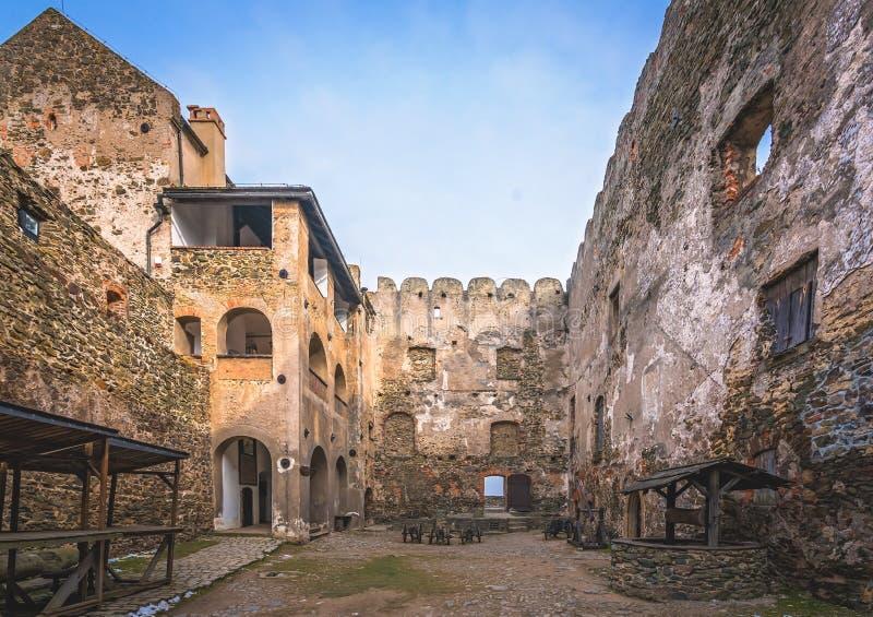 Bolkow城堡的庭院 库存照片