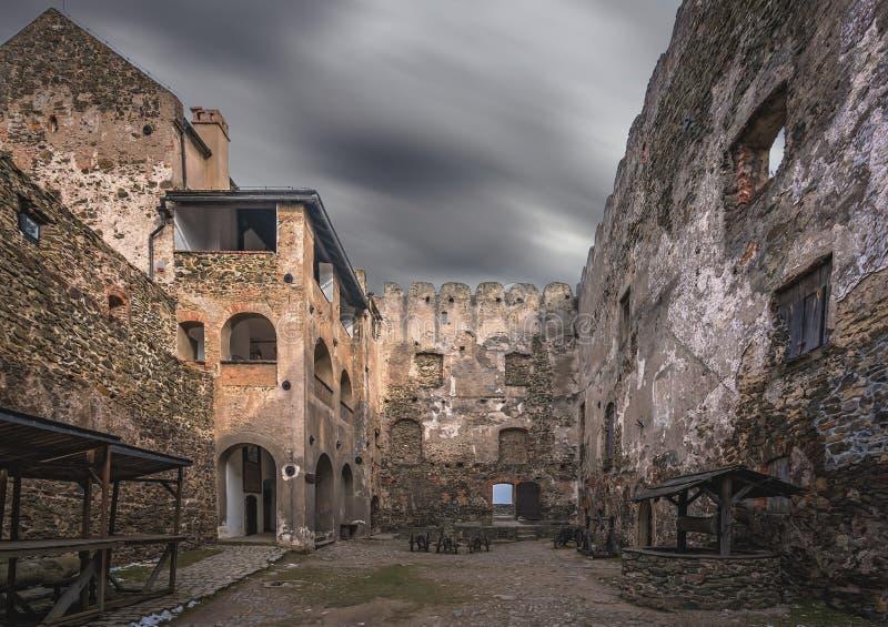 Bolkow城堡的庭院 免版税库存照片