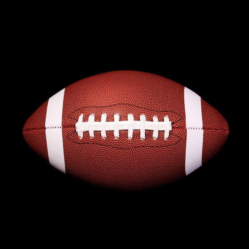 Boll för amerikansk fotboll på svart royaltyfri fotografi