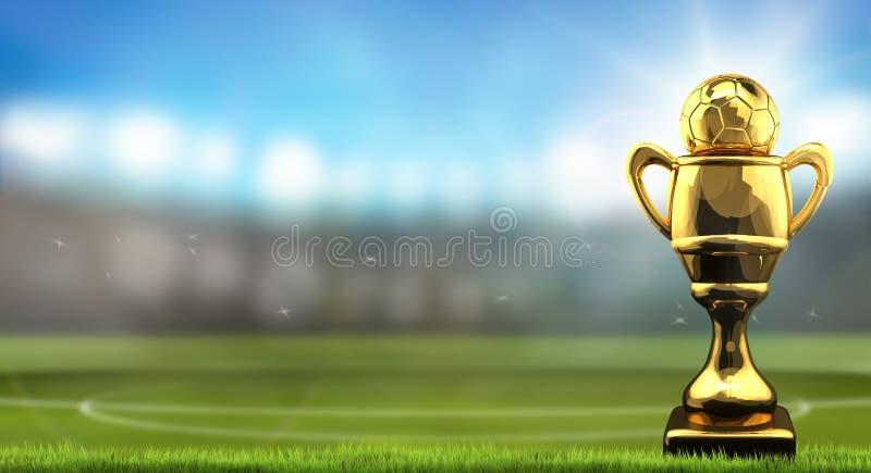 Boll för fotbollfotbollkopp royaltyfri illustrationer