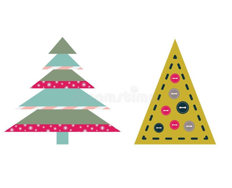 Boll för garnering för filt för julprydnadtappning royaltyfri illustrationer