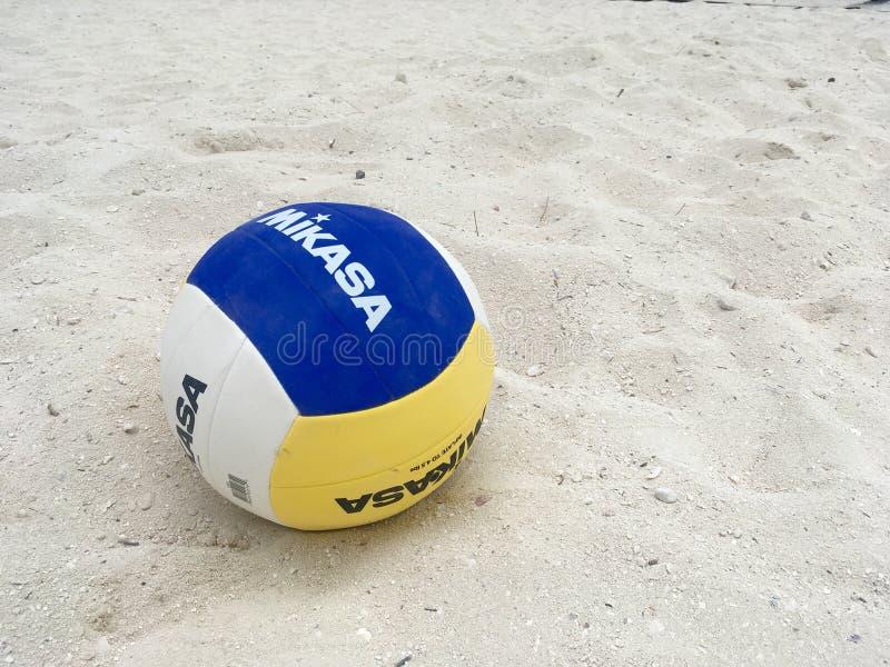 Boll för strandvolleyboll på den CocoCay för perfekt dag ön, Bahamas fotografering för bildbyråer