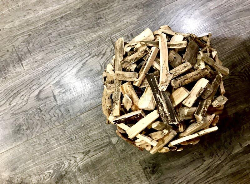 Boll för Wood chip arkivbild