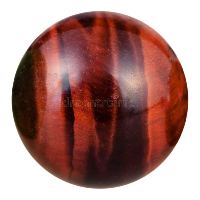 Boll från den naturliga mineraliska gemstonen för bullseye royaltyfria bilder