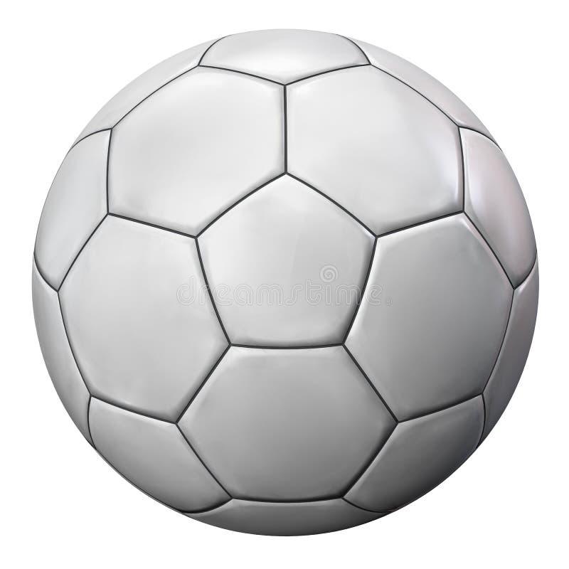 boll isolerad fotbollwhite royaltyfri foto
