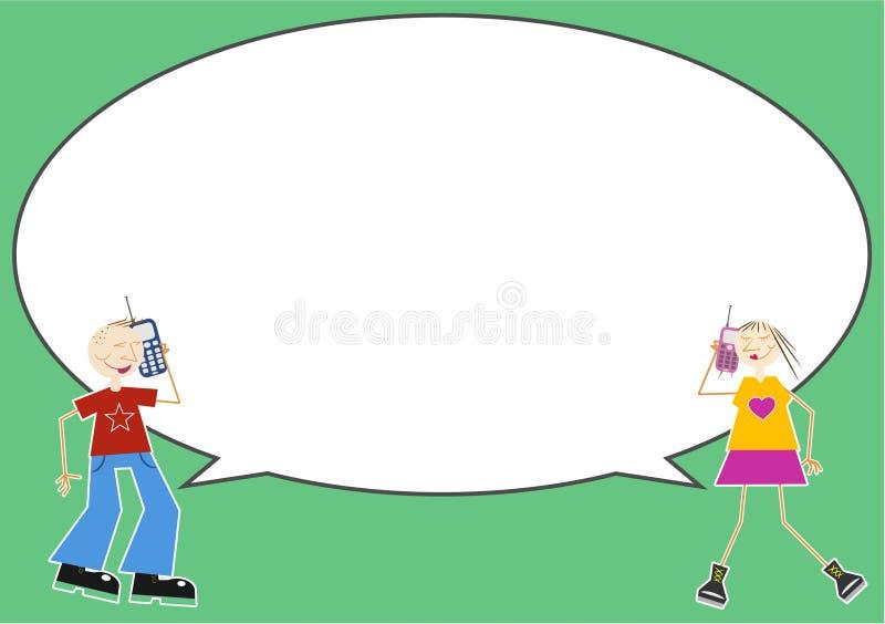 Bolla di chiacchierata illustrazione di stock