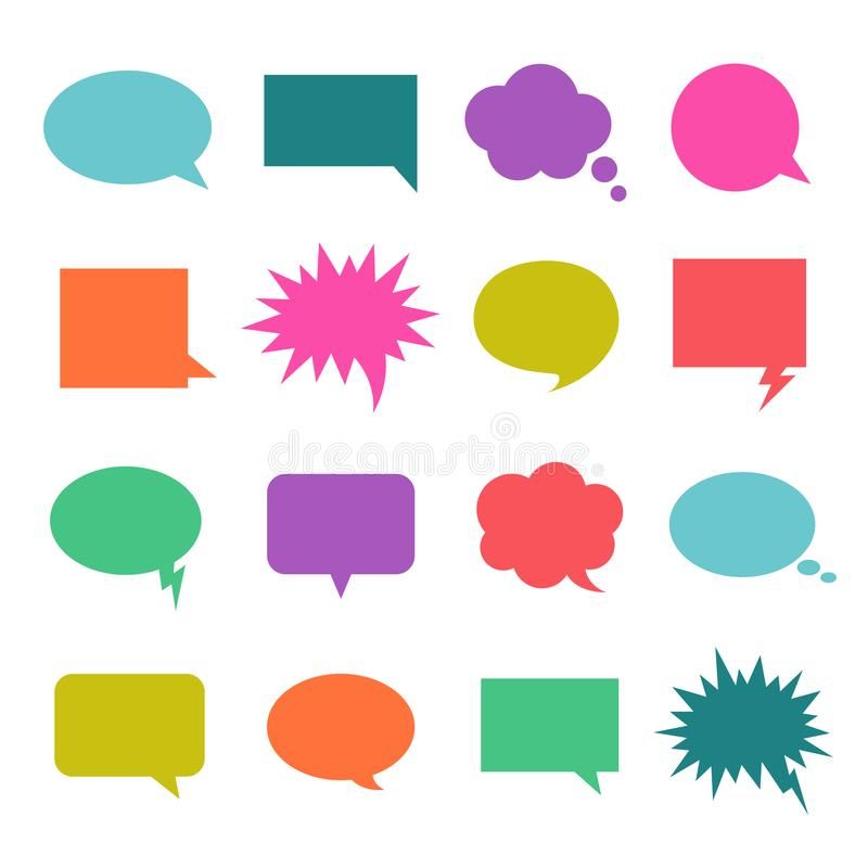 Bolla di colore di conversazione illustrazione di stock