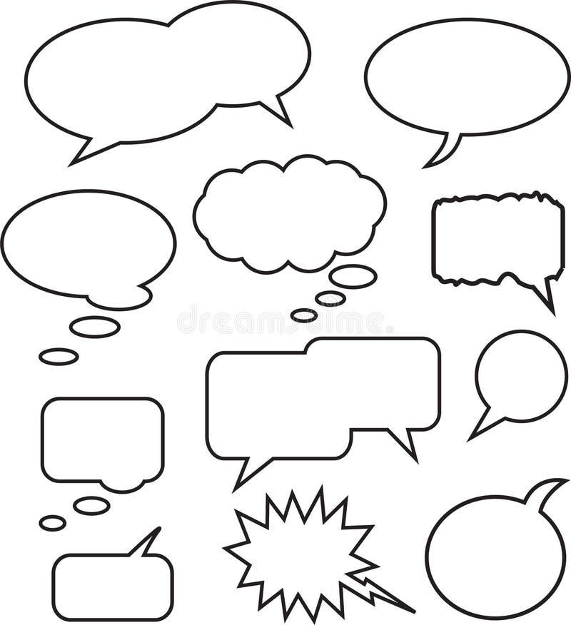 Bolla di discorso illustrazione vettoriale