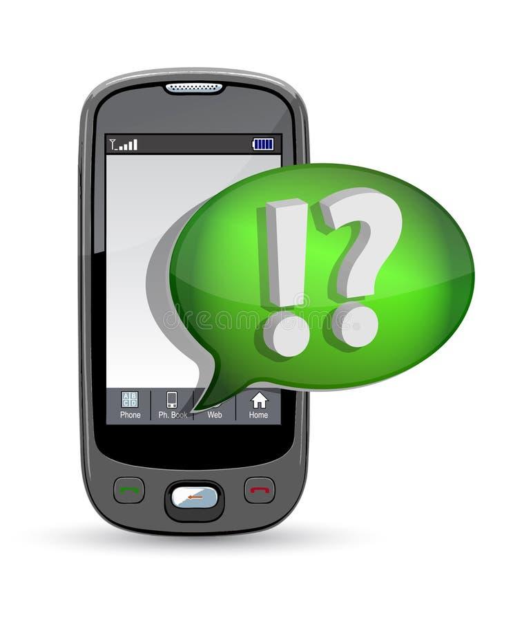 Bolla di discorso e del telefono mobile illustrazione vettoriale