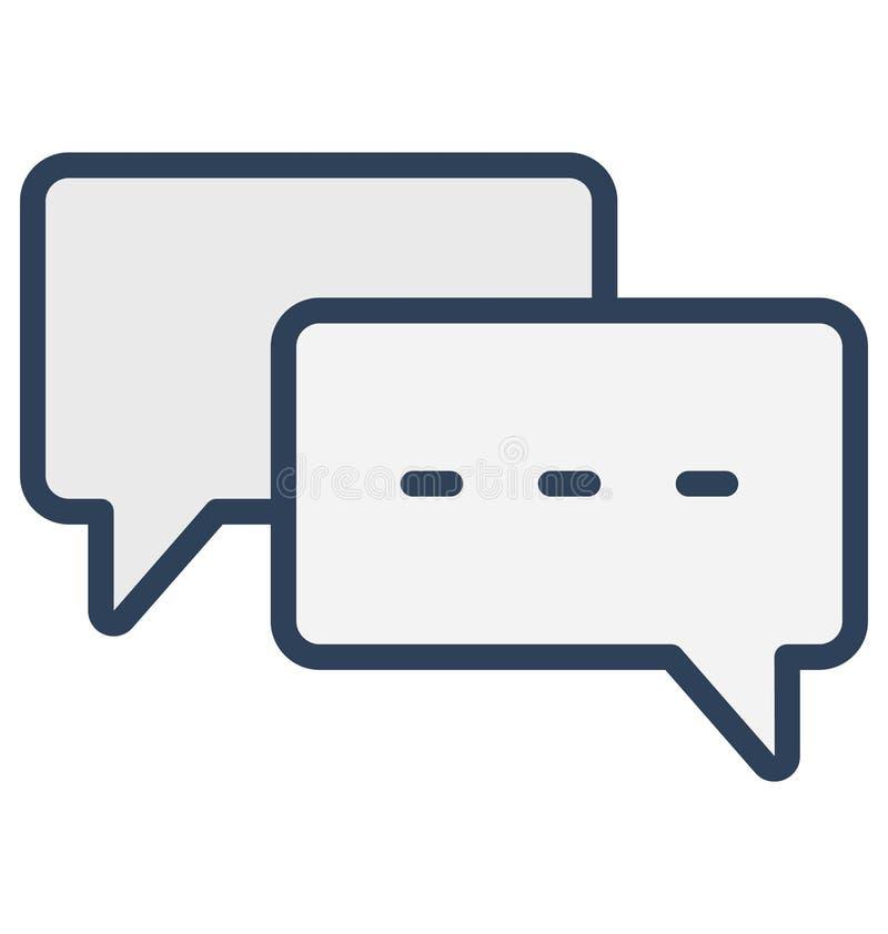 Bolla, icona di vettore isolata chiacchierata che può essere molto facilmente di pubblicare o ha modificato royalty illustrazione gratis