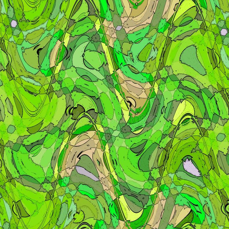 Bolla liquida della spruzzata nei colori della calce e di verde Liquido variopinto Fondo moderno dell'onda liquida royalty illustrazione gratis