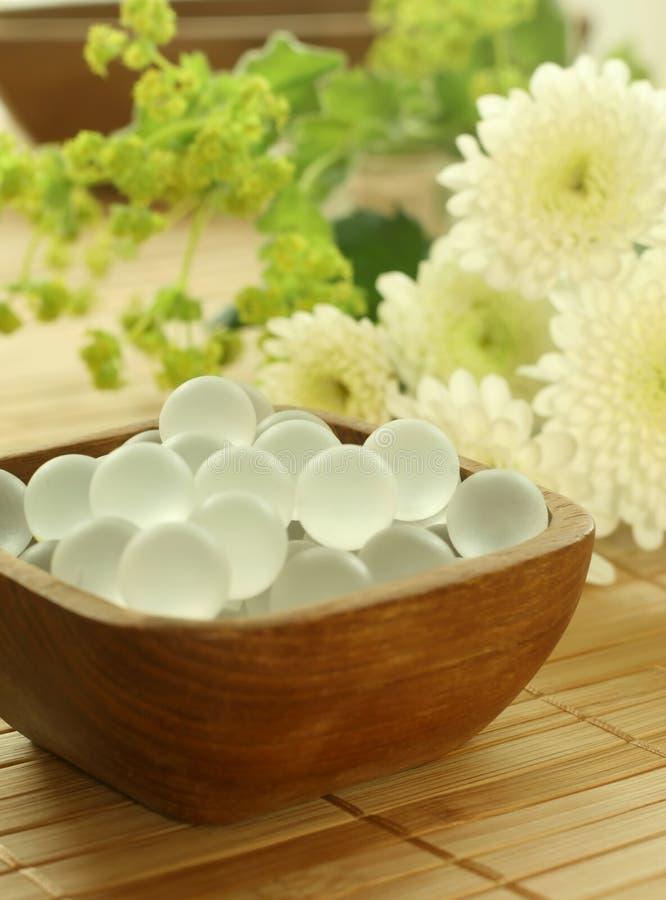 bollar bowlar trädekorativa blommor royaltyfria foton