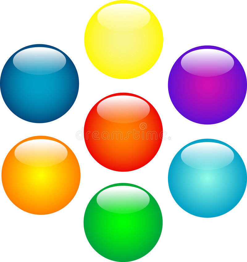 bollar färgade mång- vektor illustrationer