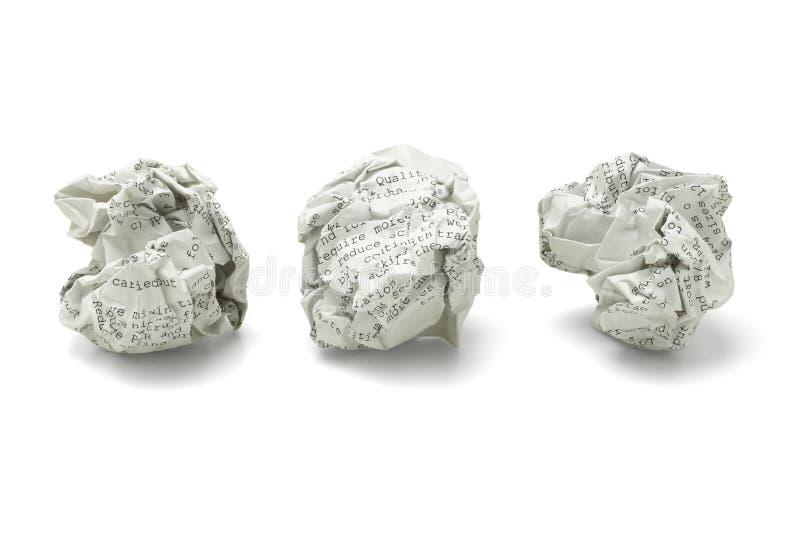 Bollar för förlorat papper arkivbilder