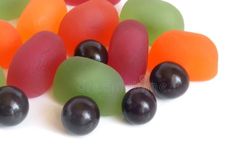 Bollar för fruktgelé och choklad royaltyfri fotografi