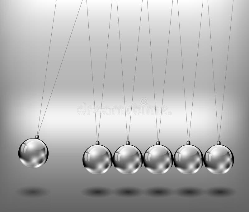 Bollar för Newtonsvaggametall vektor illustrationer