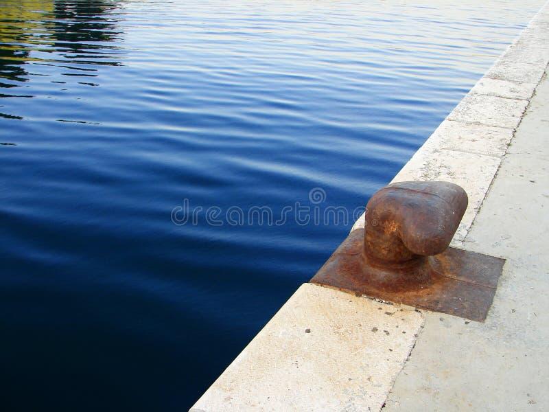 Download Bollard on dock stock image. Image of pillar, marine, rope - 4366349