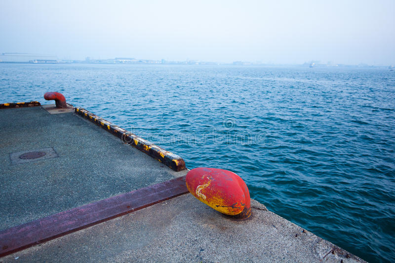 Bollard In Wharf Royalty Free Stock Images