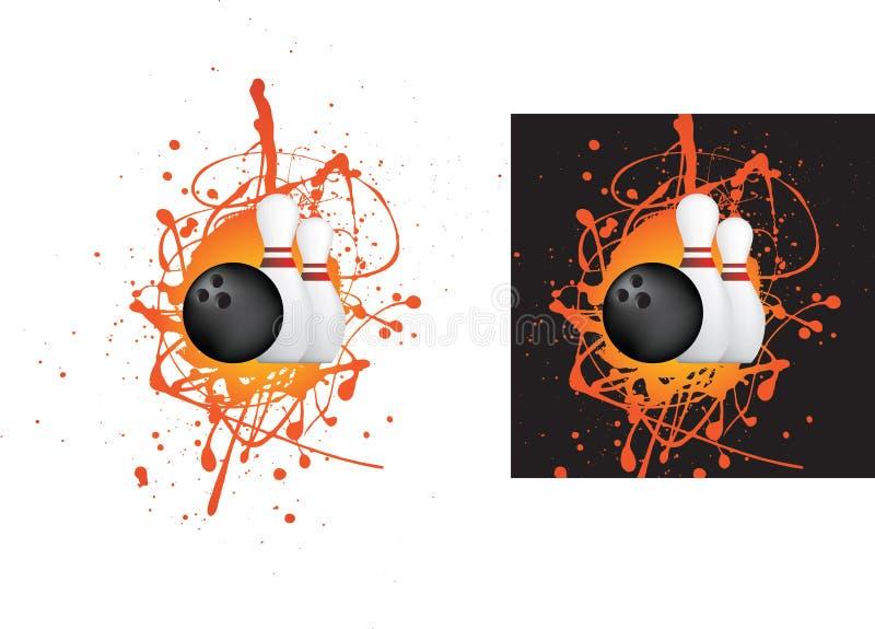 bollbowlingstift stock illustrationer