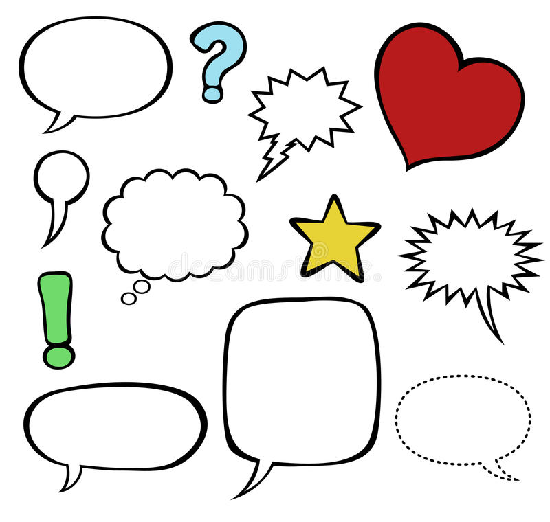 bolle/aerostati di discorso di Fumetti-stile   illustrazione vettoriale