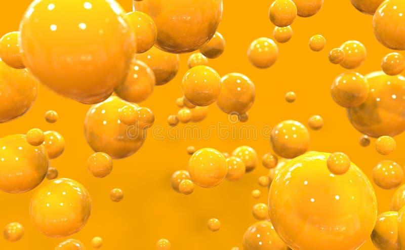 Bolle arancio immagine stock