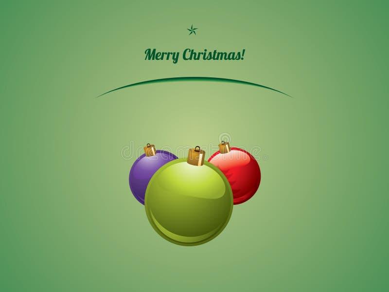 Bolle brillanti di Natale illustrazione vettoriale