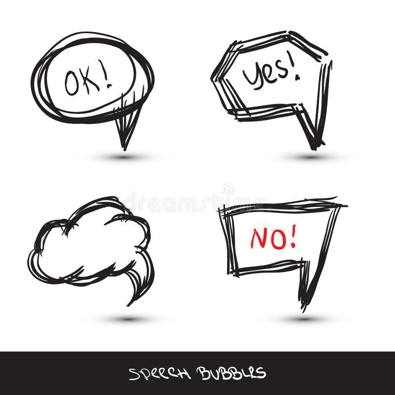 Bolle comiche di discorso. illustrazione di stock