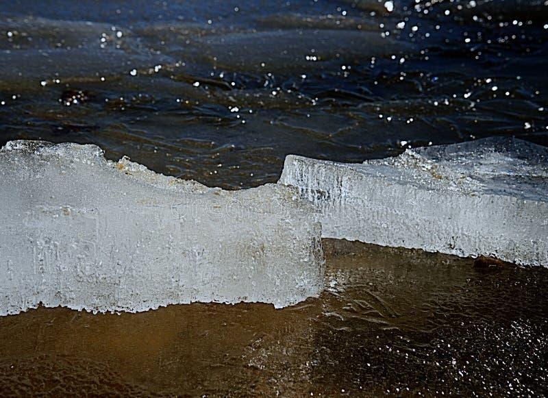 Bolle congelate in banchisa galleggiante di spostamento Ghiaccio artico che si fonde lentamente fotografia stock libera da diritti
