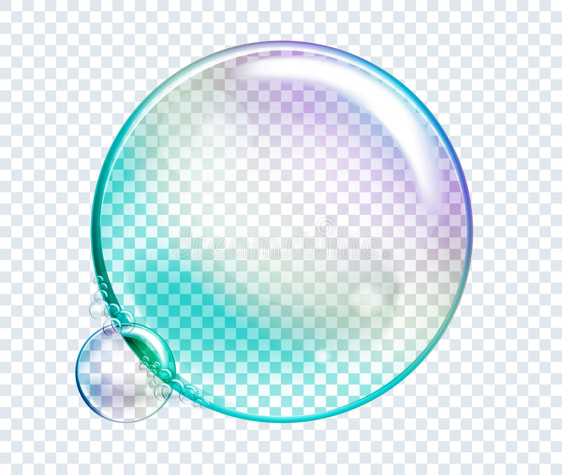 Bolle dell'acqua dell'arcobaleno di vettore DES realistico isolato trasparente illustrazione vettoriale