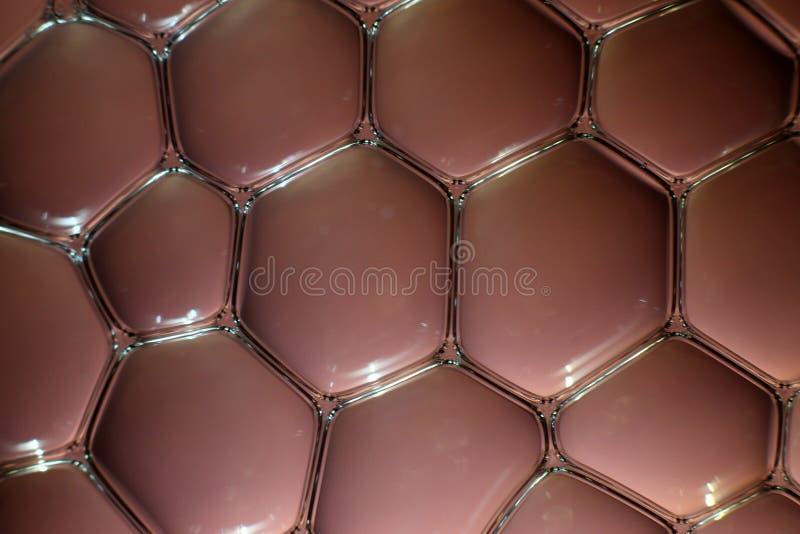 Bolle dell'acqua nel marrone fotografie stock