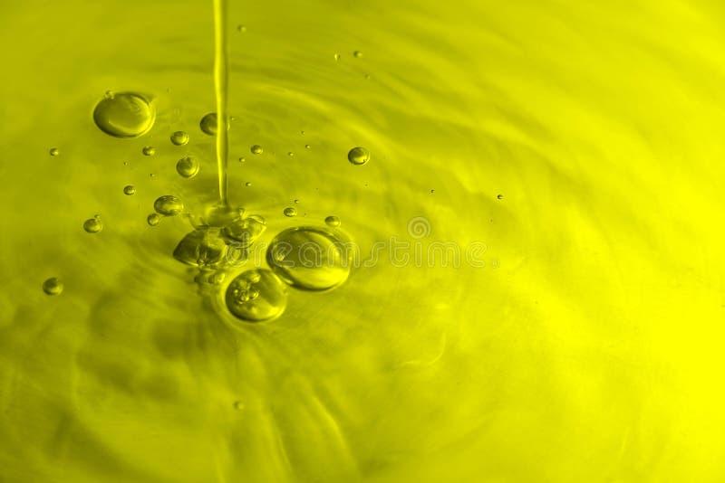 Bolle dell'olio di oliva fotografia stock