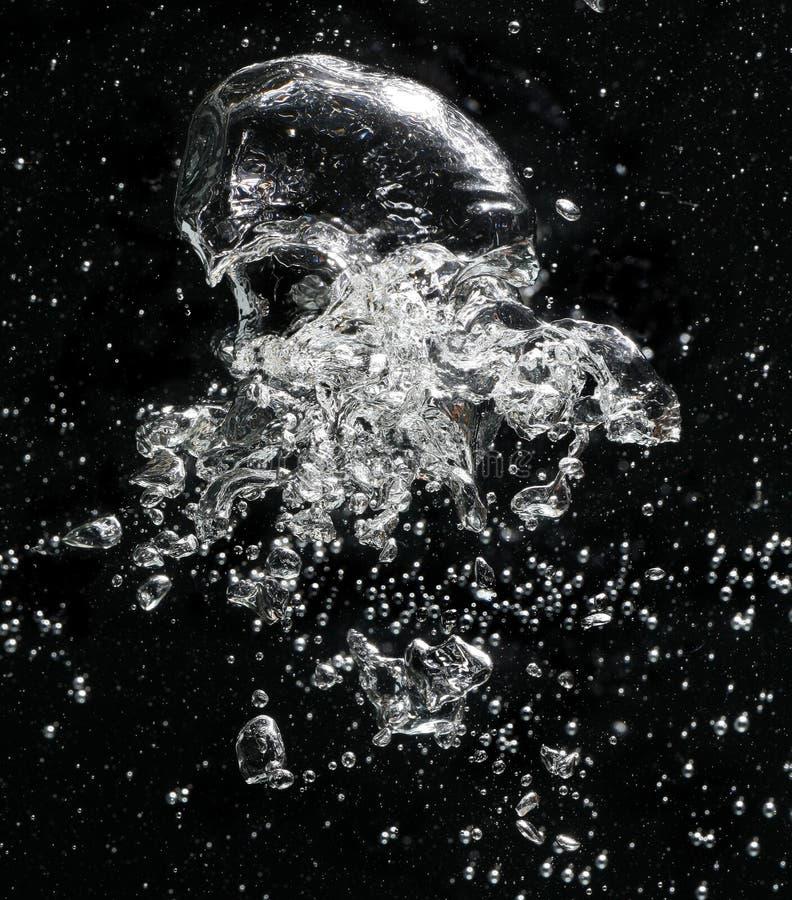 Bolle di aria in acqua fotografie stock libere da diritti