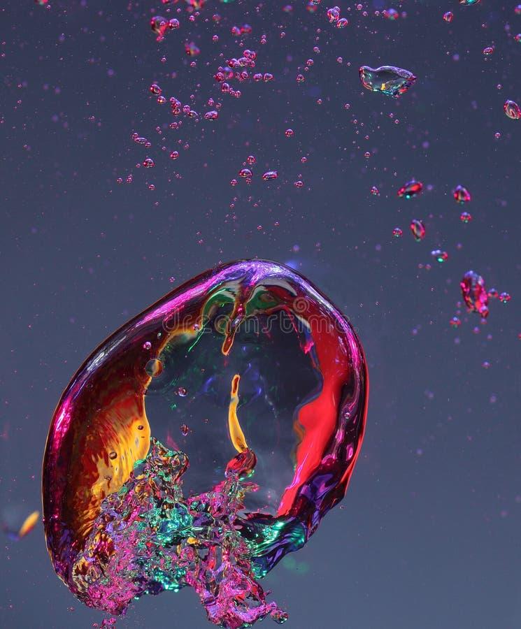 Bolle di aria in acqua fotografie stock