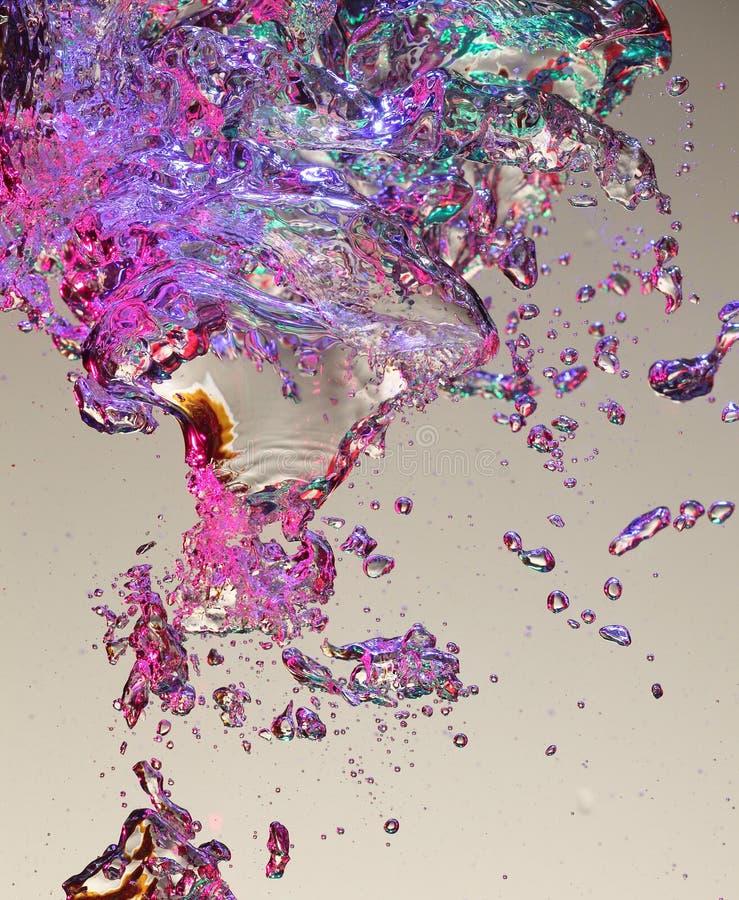 Bolle di aria in acqua immagini stock libere da diritti