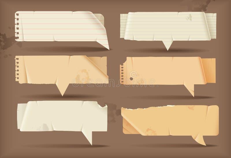 Bolle di carta di discorso illustrazione di stock