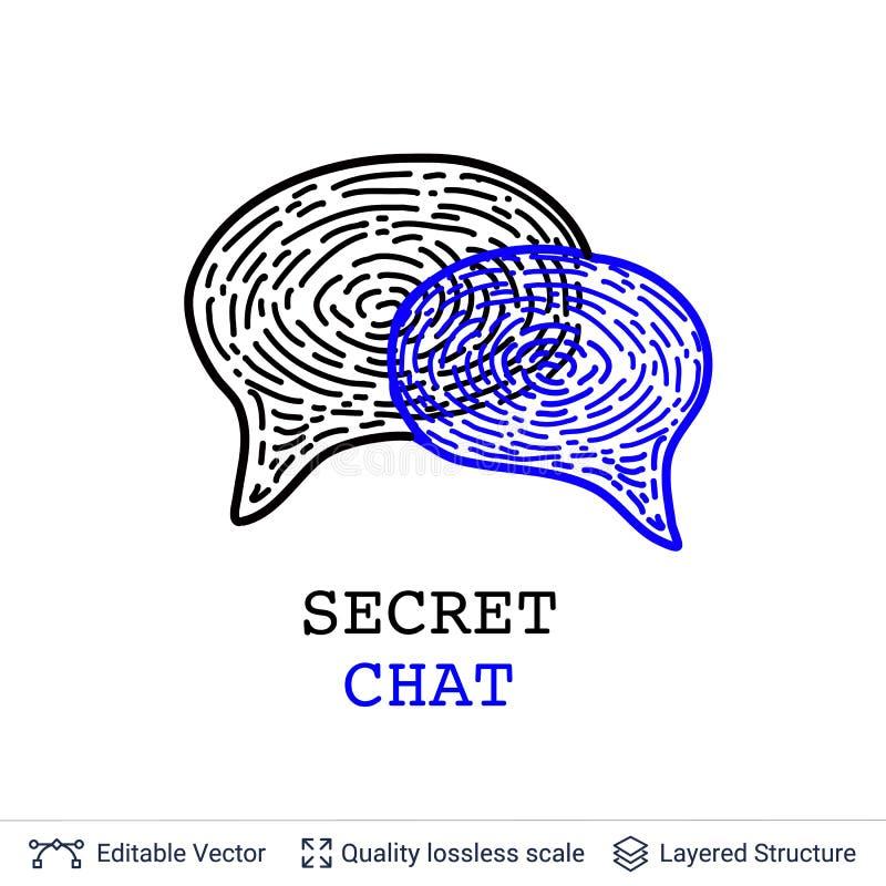 Bolle di chiacchierata con le impronte digitali isolate su bianco royalty illustrazione gratis