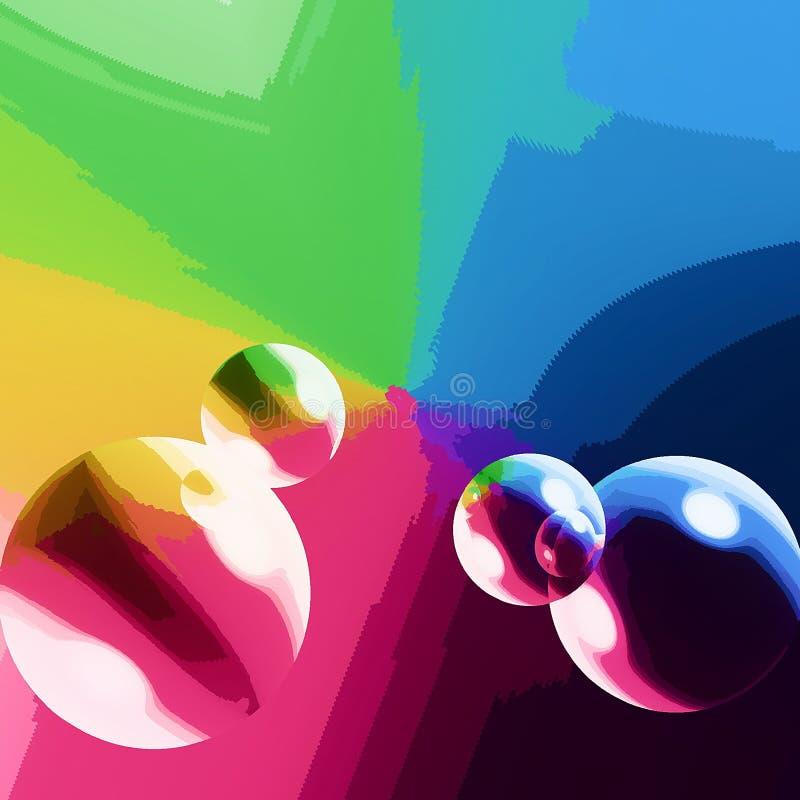 Bolle di colore fotografia stock