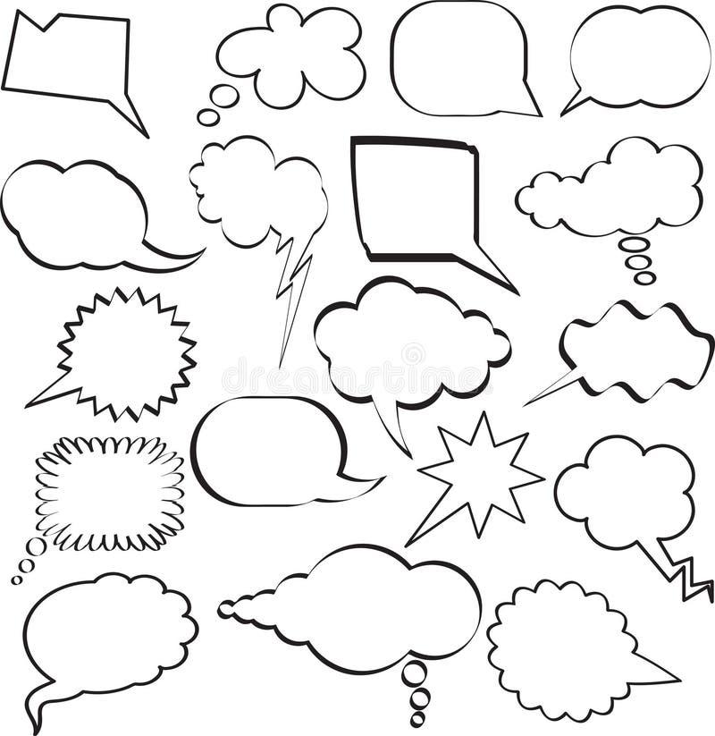 Bolle di discorso illustrazione di stock