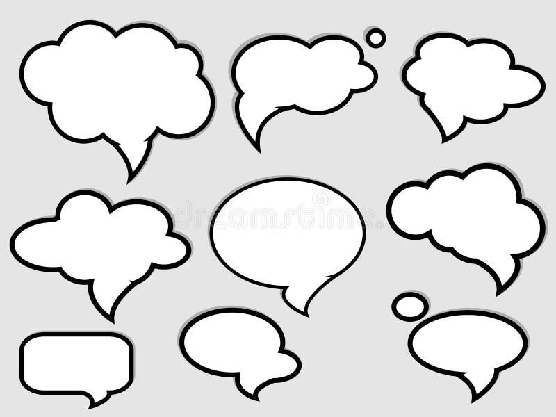 Bolle di discorso illustrazione vettoriale